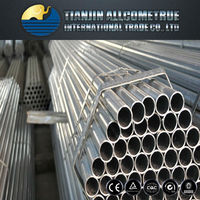 Hot ! GI Pipe Factory Supply BS1387 ERW Black Carbon Steel Pipes / Tubes for Scaffolding factory price list in china