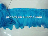 Decorative Dyed turquoise blue Goose Feather Trimming