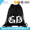 Low cost Eco friendly black cotton Drawstring Bag