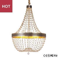 Crystal gold beaded Chandelier From Zhongshan China