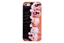 Plastic New Fashion Lovely Dog Printed Design Phone Case For iPhone 5 5s
