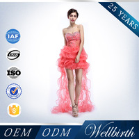 Factory Directly Sell 2015 Red Tube Sex Women Party Dress For Christmas