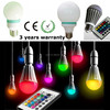 rgb led bulb remote controlled color changing led decoration magic light bulb
