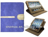 New Stylish Suede Leather Smart Flip Buckle Case Cover Sleep Wake for iPad 4 3 2