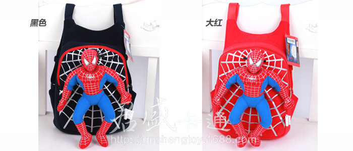 Character 2014 Cute 3D Spiderman Детский Backpacks Baby School Bags For Boys Cartoon Backpack Kids Satchel Mochila Infantil