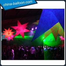 Party inflatable led star, christmas decoration star , led christmas star