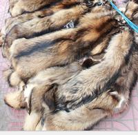 Original Natural Color Wholepieces real raccoon Fur skin