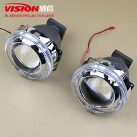 Eagle Eyes Auto Lamps Motorcycle Hid Projector Headlights Led Angel Eyes Hid Projector Lamp Kit