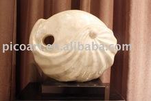 La escultura de vieira, la coloración de shell de la escultura para la decoración del hogar