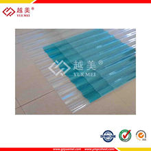 solid hollow corrugated embossed polycarbonate sheet for roofing with 100% virgin plastic building material