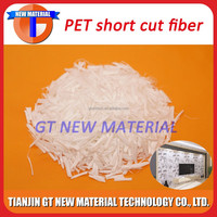 1.5D 12mm Polyester short cut fiber, pet short cut fiber, psf short cut fiber for wallpaper