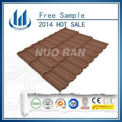 NUORAN Guangzhou building material/Strong sand coated metal roofing tiles/Flat concrete roof tile