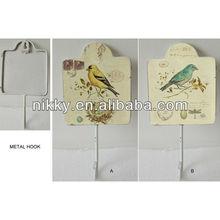 Retro bird metal hooks for clothes hanger