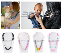 China wholesale baby necklace food grade teething silicone beads