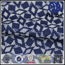 2015 jacquard tecido de cetim azul escuro jacquard tecido de cetim