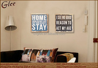 hot sale home decorative wood wall board with full color printing