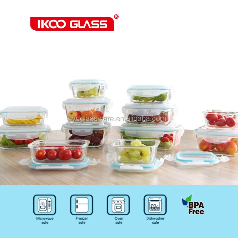 fancy lunch box with leakproof bento lunch box pyrex glass lock container buy fancy lunch box. Black Bedroom Furniture Sets. Home Design Ideas