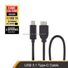 New product USB 3.1 cable,USB TYPE C TO USB 3.0 MICRO B M,C type connector