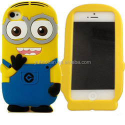 3D Cartoon Despicable Me MINIONS Silicone Cover For iPhone 4/4s,5/5s,6/6 Plus