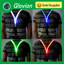 New design weaving ribbon led suspender flashing suspender personalize suspender for party