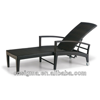 2015 Antique Outdoor Furniture Lounge Rattan Folding beach modern chaise longue