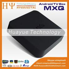 4K Visual enjoyment Quad core GPU amlogic s805 tv box support H.264/H.265 MXQ, amlogic s805 android tv box mxq