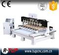 4 ejes CNC enrutador máquina de la carpintería con cilindro rotary