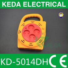 2 pin plug round extension cable reel socket