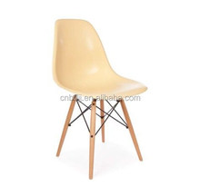 Latest Eames DSW Side Cream Plastic Chair Wood Base