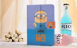 Custom despicable me 7 inch tablet leather case