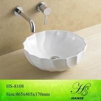 HS-5015 new design cheap ceramic flat bathroom sink