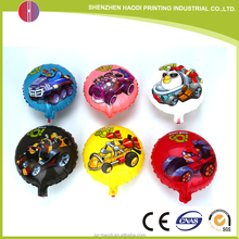 Good quality 9 inch colorful printed round foil balloon for party
