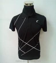 S5012 Black men t shirt and shorts badminton sports jersey high quality badminton