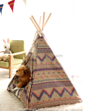 Top Design inidan Pet teepee tent for dog or cat