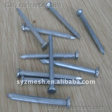 Smooth shank E.G. concrete nails with diamond point
