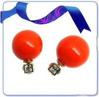 Wholesale earrings stainless steel ,ball earring from alibaba,happy metals jewelry