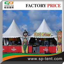 Merchandising tents 6x6m for music festivals on walkside as temporary structure