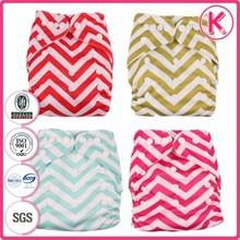 2015 reusable baby cloth diaper, dual row snaps, double row snaps cloth diaper