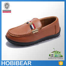 HOBIBEAR 2015 fashion kids boat shoes casual leather dree shoe child loafer shoes