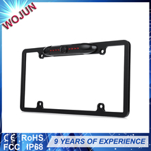 Easily installed standard US integrated license plate camera