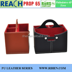 Hot Sale PU Leather Office Organizers Sundries Boxes