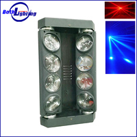 High Quality dmx 8*10w white color Led Quad Beam Moving Head Spider Light Cool Party Disco DJ Light Equipment