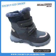 Genuine leather children kid snow boots OEM baby boots