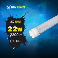 Japan foot cartoon red tube t8 22w more zttractive price no flash with two-year warranty PF>0.9