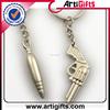 Custom cheap metal custom promotional bullet key chain