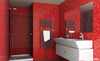 Chininese supplier 100x300mm Red color water proof glazed tile