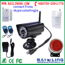 Wireless Intelligent GSM Alarm System SMS MMS Email Call Video