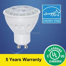 UL GU10 LED Lamp 6.5W 6000K
