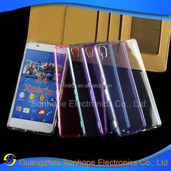 2015 Transparent clear design tpu cases for Sony Z4 for Xperia Z4 Z3+ plus E6553