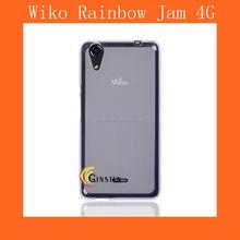 تغطي tpu شفافة wiko 4g قوس قزح المربى